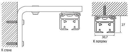 Инструкция по креплению к потолку или стене
