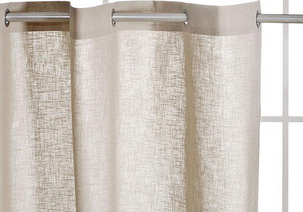 Занавески для ванной комнаты в тканевом исполнении