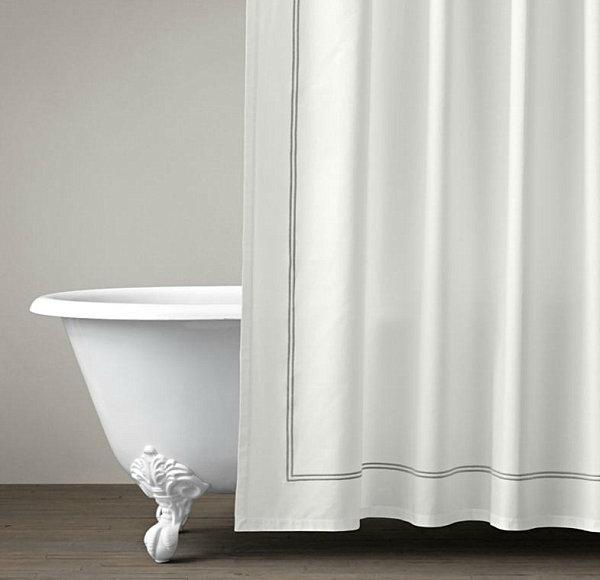 Стиль шторок для ванной комнаты