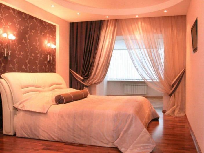 шторы Велес в интерьере спальни