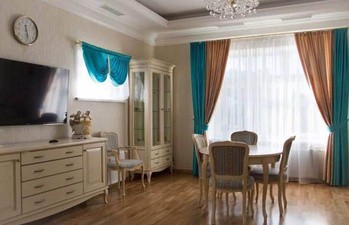 красивые двухцветные шторы