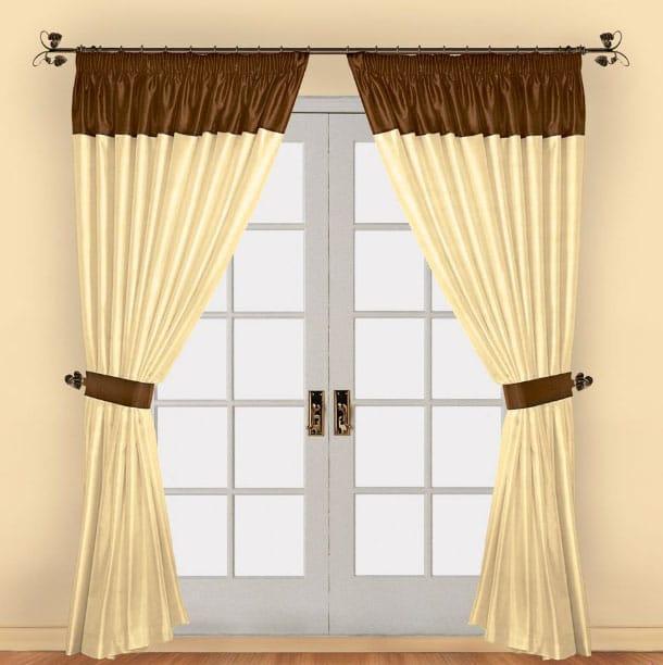 шторы с двумя оттенками