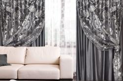 Серые шторы – универсальный вариант для любого интерьера