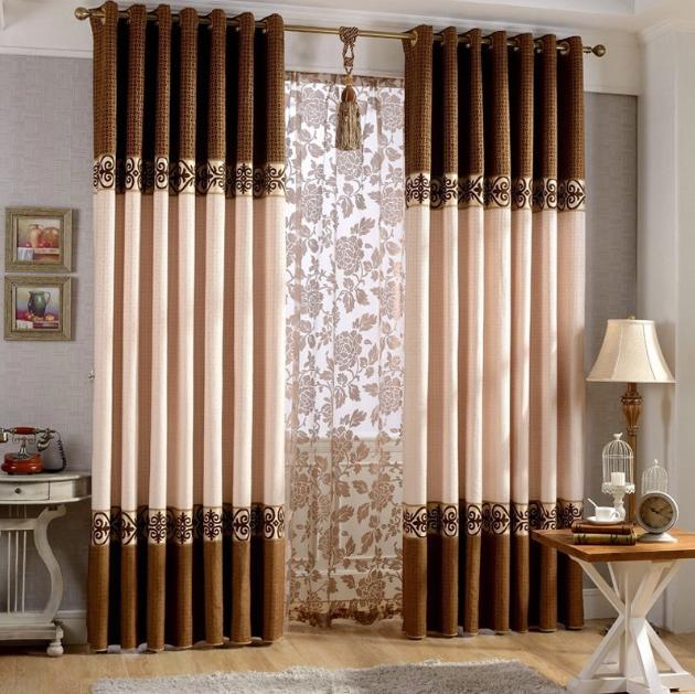 длинные шторы в гостиную