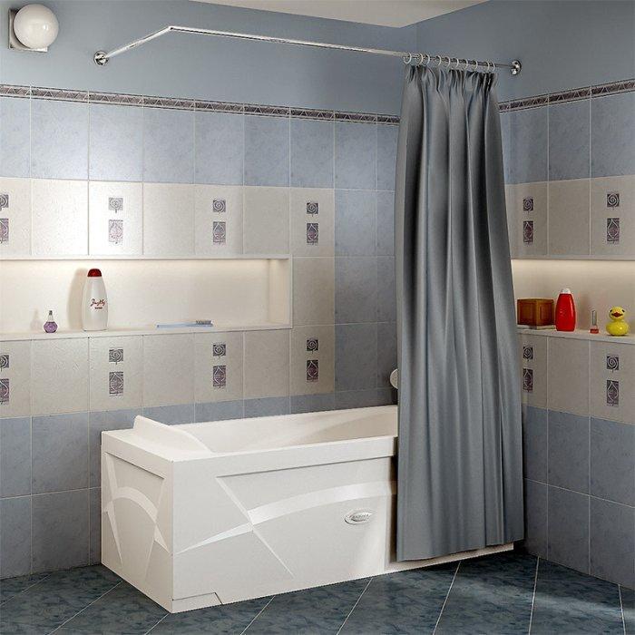 Карниз в интерьере ванной.