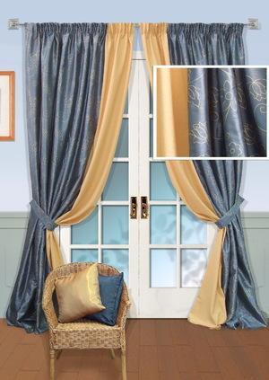 Использование двойных штор