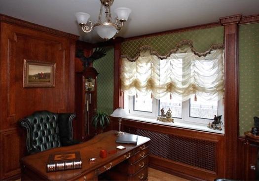 Оформление окна в кабинете