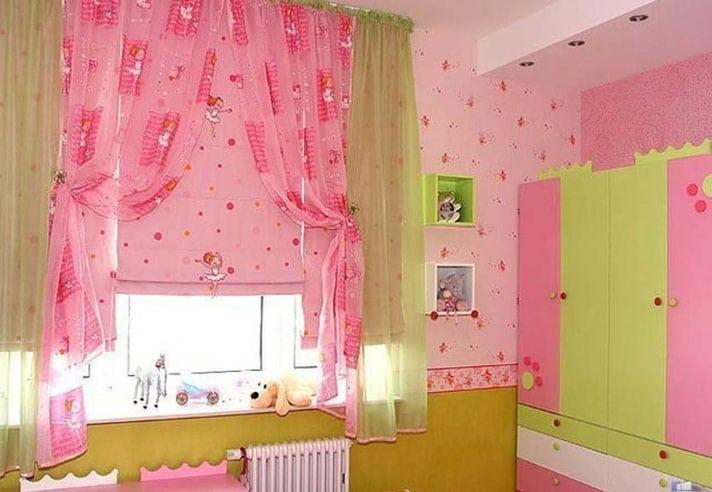римские шторы для девочки
