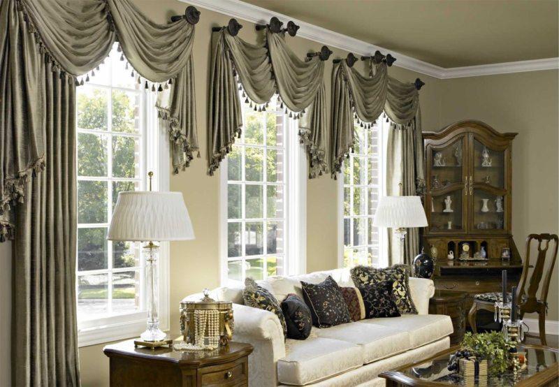 Pelmets in the living room (9)