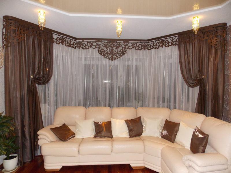 Pelmets in the living room (16)
