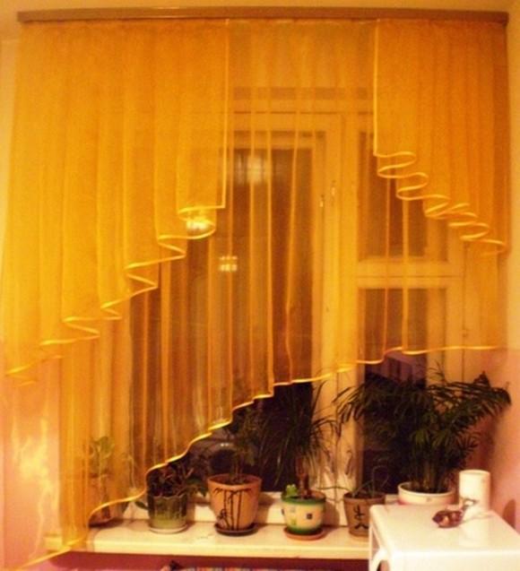 Шторы каскад для маленького окна шьем сами
