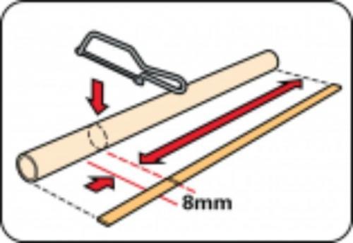Обрезаем вал рулонной шторы