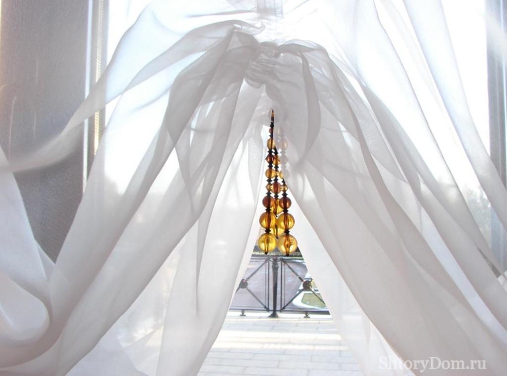 Как декорировать шторы из тюля