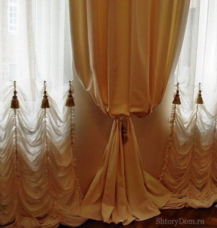Как декорировать шторы маркиза