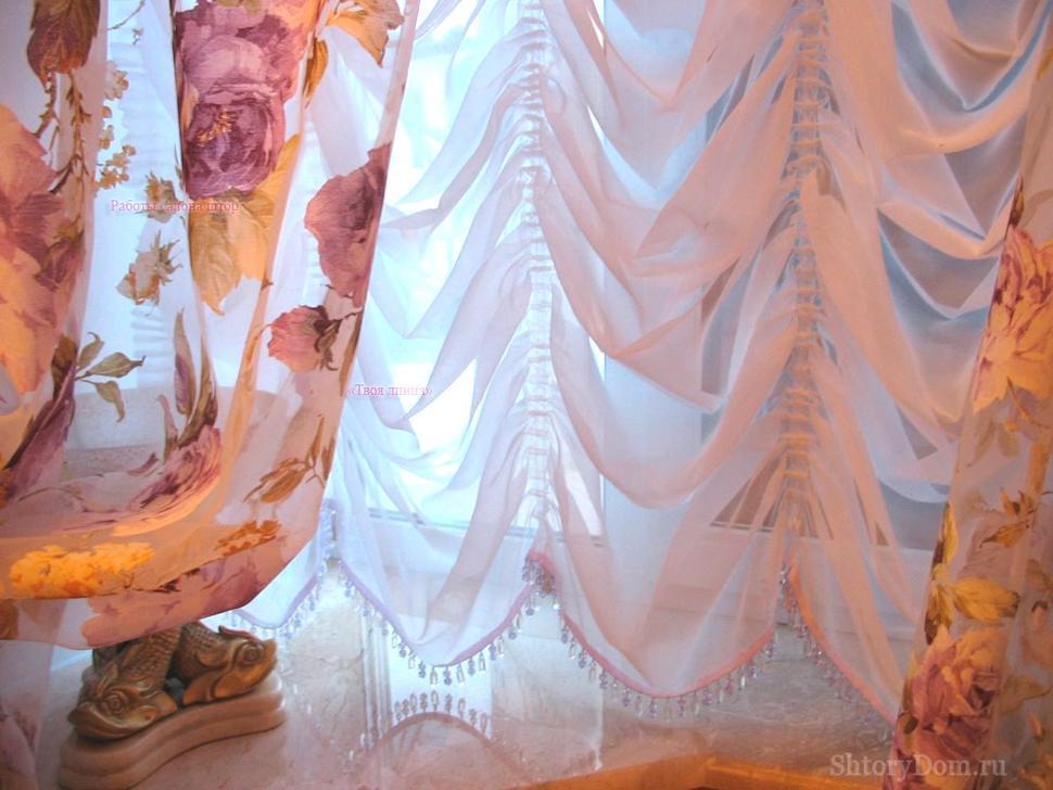 Французская штора с портьерами