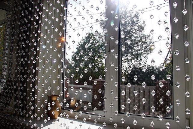 Стеклянные шторы как смотрятся на окне