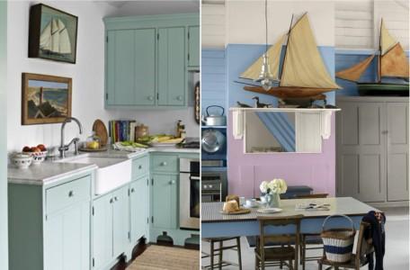 Декор кухни в морском стиле