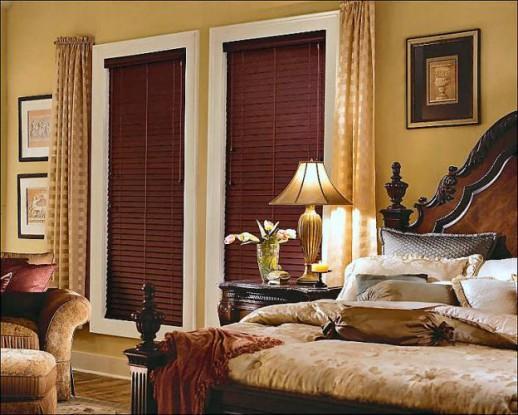 Рулонные шторы с портьерами