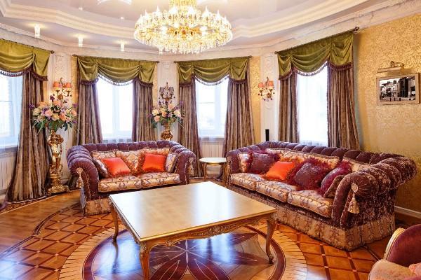 Вот так оформляется классический интерьер, напоминающий королевские дворцы и дворянские усадьбы