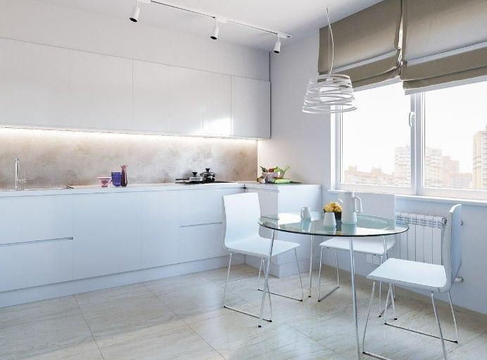 шторы в стиле минимализм на кухню