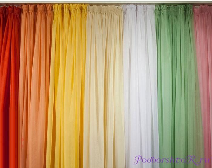Разнообразие цветов тюли