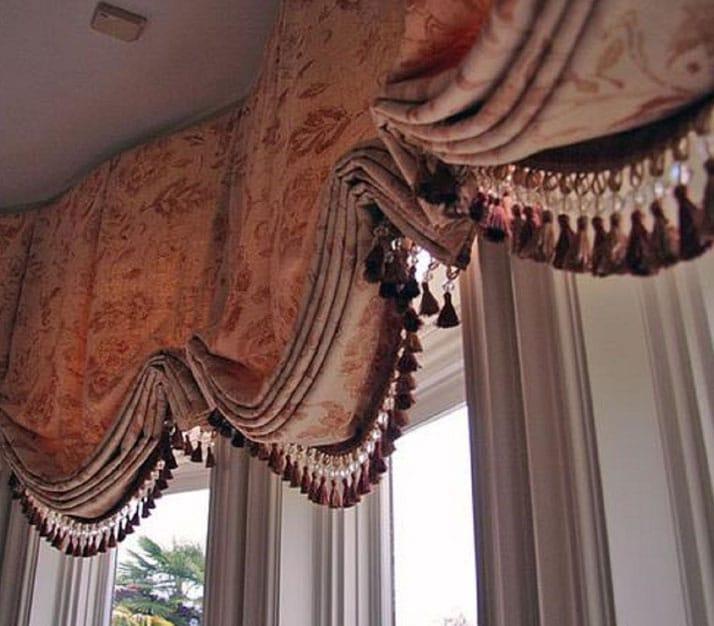 шторы с бахромой в интерьере