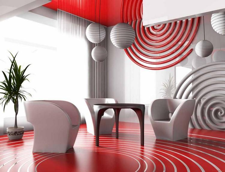 Стильный интерьер с помощью геометрической фигуры круг