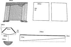 Схема выкройки штор из органзы