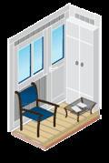 Жалюзи для отделанных балконов