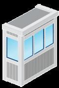 Жалюзи для остекленных балконов