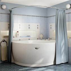 Полукруглый карниз в ванную