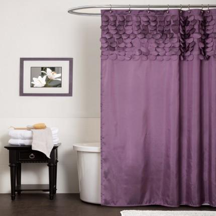 Модель П-образной штанги для шторы в ванной комнате