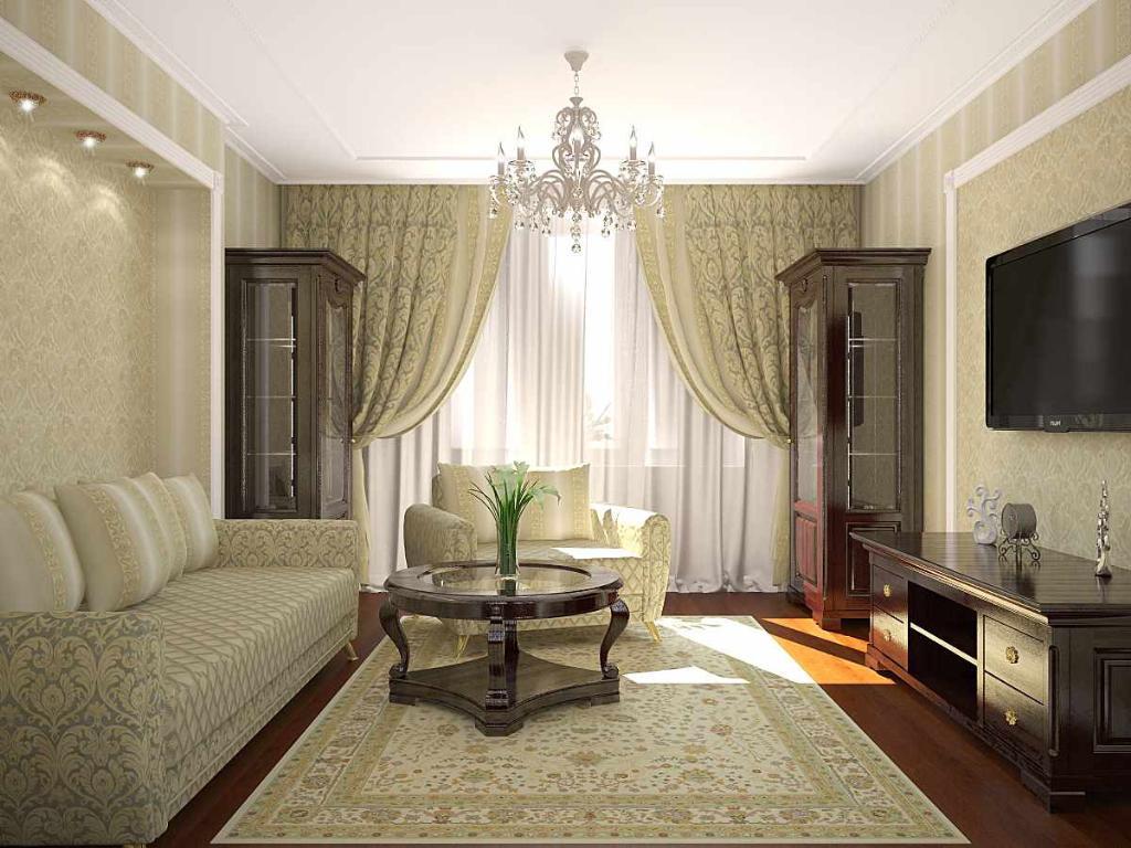 вариант светлого стиля гостиной комнаты 17 кв.м