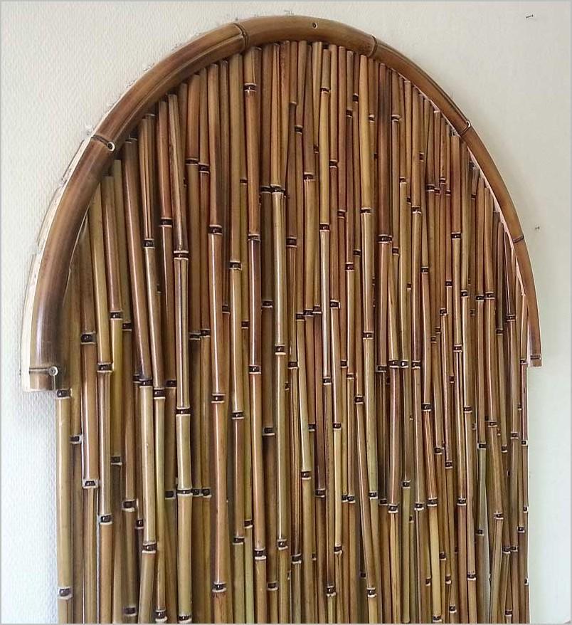 Шторы из бамбуковых трубочек на арку в прихожей