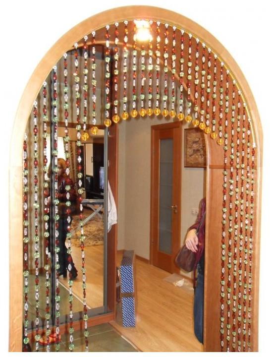 Занавеска из стекляруса своими руками на дверной проем
