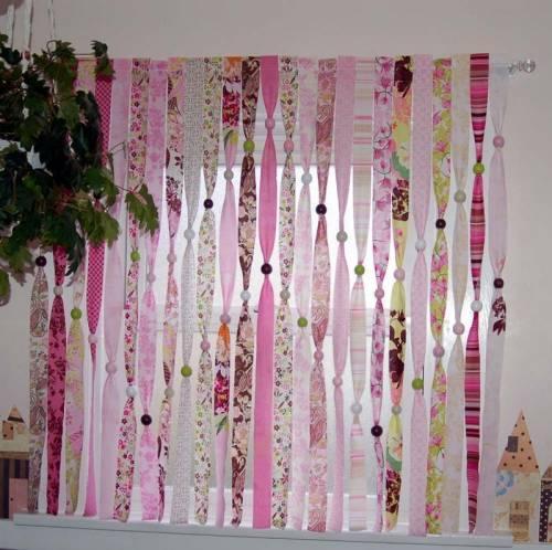 Изготовленные из обоев шторы