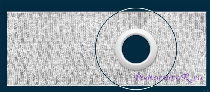Люверсная лента для пошива штор