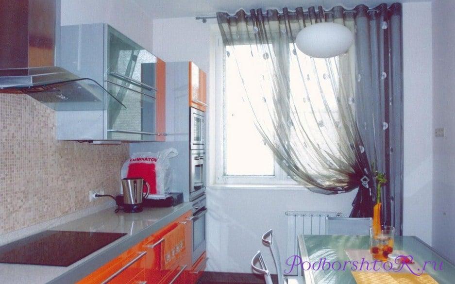 Шторы на маленькие кухонные окна
