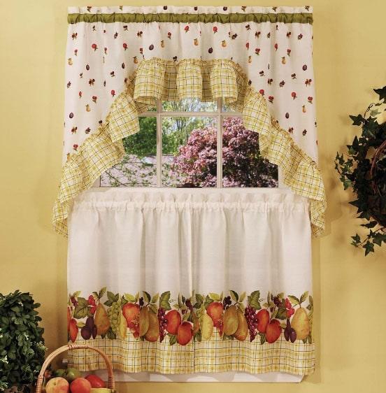 шторы на маленькое окно на кухню
