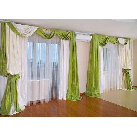 дизайн классических штор для зала фото