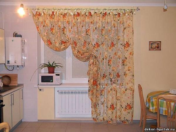 шторы в кухню своими руками