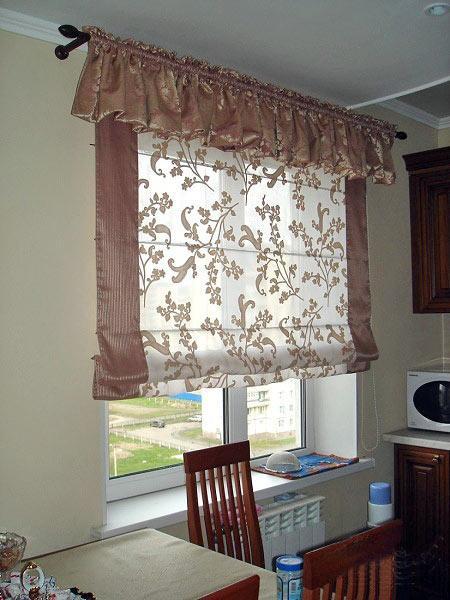 простые шторы для кухни своими руками