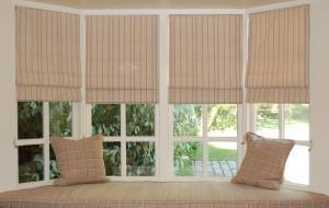 Римские шторы на пластиковые окна фото №6