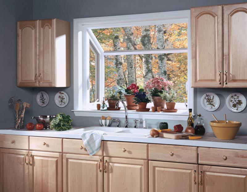 Kitchen with a sink under the window (9)