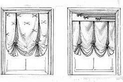 Варианты оформления лондонских штор