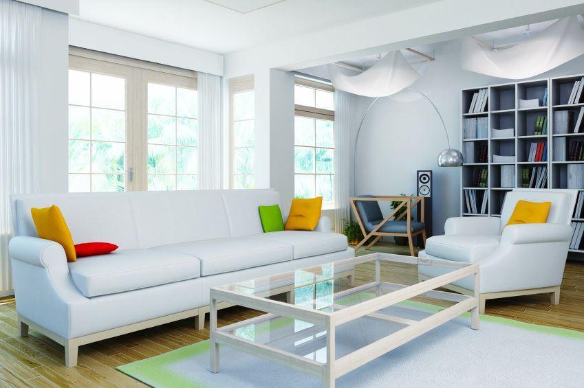 Фото белого дивана в интерьере