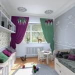 Как выбрать фиолетовые шторы для детской