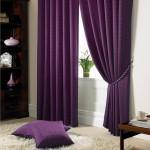 Оформление детской с шторами в фиолетовых цветах