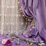 Использование фиолетовых штор в интерьере детской