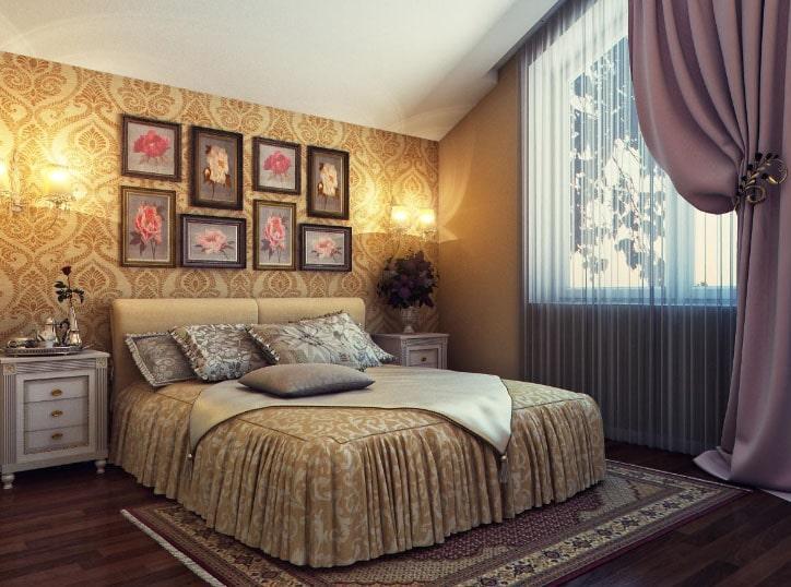 штора на одну сторону для спальни